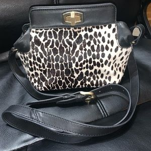 Ann Taylor Faux fur crossbody purse